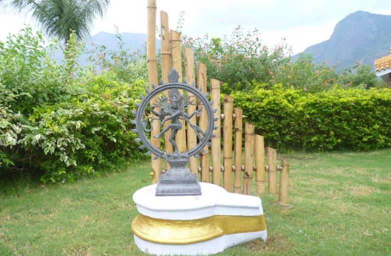 Garden Sculpture behind Shiva Statue